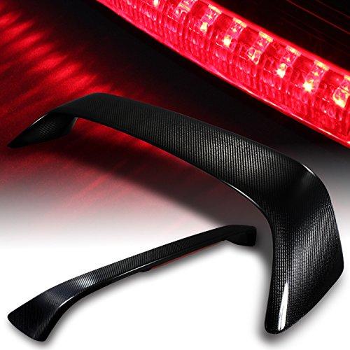 Honda Civic Coupe 2 Door 100% Real Carbon Fiber Rear Trunk Spoiler LED Brake Lamp 1996 1997 1998 1999 2000 2001 2002 2003 2004 2005 2006 2007 2008 2009 2010