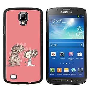 YiPhone /// Prima de resorte delgada de la cubierta del caso de Shell Armor - Personaje de dibujos animados Dibujo Chica rosado Perro - Samsung Galaxy S4 Active i9295