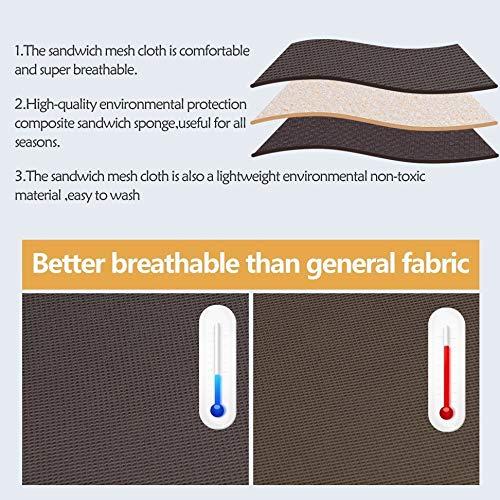 baibu Super Breathable Round Bar Stool Cover Seat Cushion Black 14