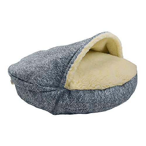 - Snoozer Pet Products – Luxury Orthopedic Cozy Cave Dog Bed – Showdog Collection | Small - Palmer Indigo