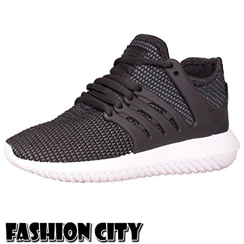 Womens Ladies Lace up P.E GYM Trainers Smart Boots Sports Shoes Skaters Size 3-8 Black/White