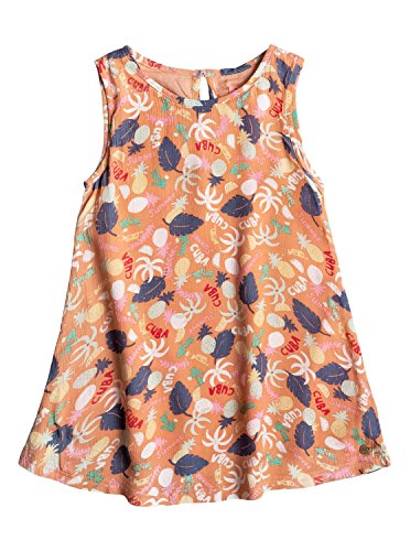 Roxy Girls Roxy Everyone On A Run - Sleeveless Dress - Girls 2-6 - 4 - Pink Peach Nectar Exotic Tic - Code Nectar