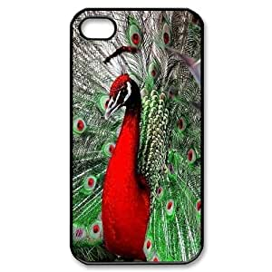 Best Phone case At MengHaiXin Store Peacock Open It's Cock Pattern 269 For Iphone 4 4S case cover