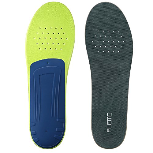 Plemo Athletic Shoe Insoles Cuttable, Arch SUPPORTS Orthotics Shoe Inserts For Plantar Fasciitis and Pain Relief, Full Length (Men Size 8-12) (Athletic Shoes Arch Support)