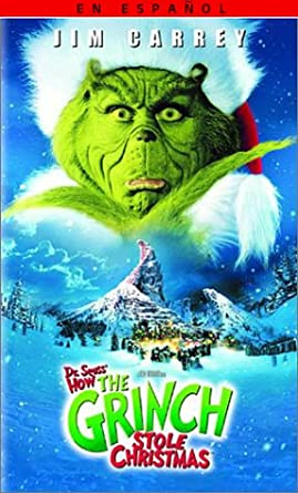 How The Grinch Stole Christmas 2000 Vhs.Amazon Com Dr Seuss How The Grinch Stole Christmas Vhs