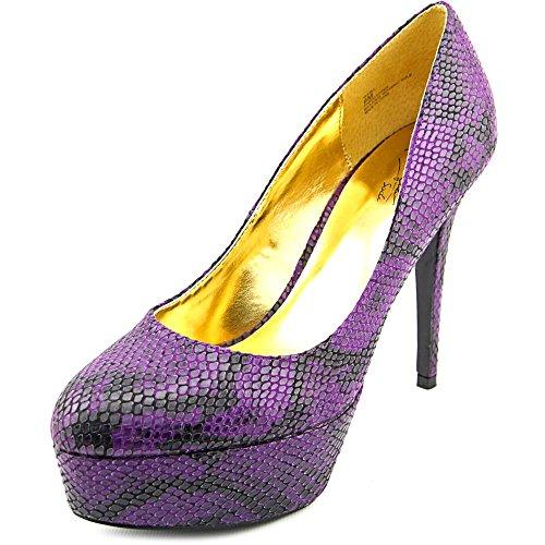 Thalia Sodi Frauen ISABEL Geschlossener Zeh Klassische Pumps Purple Snake