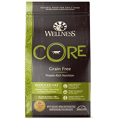 Wellness CORE Natural Grain Free Dry Dog Food, Reduced Fat, 4-Pound Bag