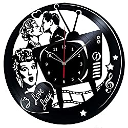 I love Lucy Vinyl Record Wall Clock - Get unique bedroom or nursery wall decor - Gift ideas for boys and girls Fantasy Film Unique Art Design