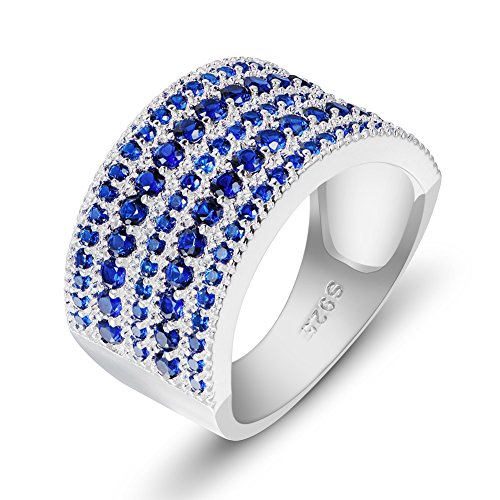 (ANGG Cubic Zirconia Simulated Diamond Vintage 925 Sterling Silver Ring)
