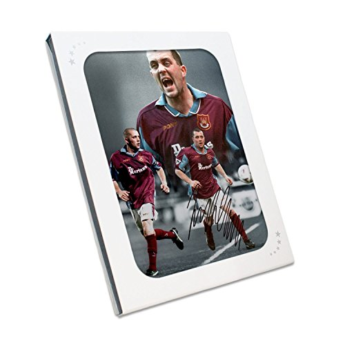 Julian Dicks Signed West Ham United Montage In Gift Box | Autographed Soccer Memorabilia