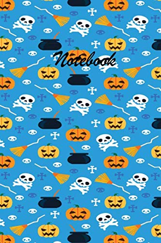 Halloween Table Topics (Notebook: These Halloween beautiful 6 x 9 Composition Notebook 190-page Journal books are lined to standard wide-ruled margins with a table of ... of each topic.Broom Skull Halloween Book)