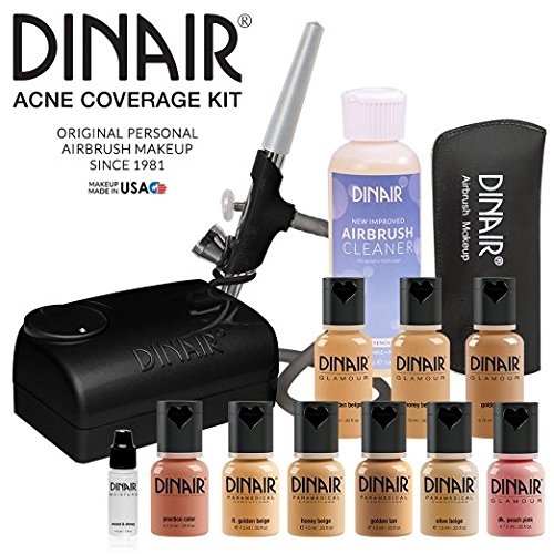 Dinair Airbrush Makeup Foundation | Top Acne Coverage Kit | Medium Shades