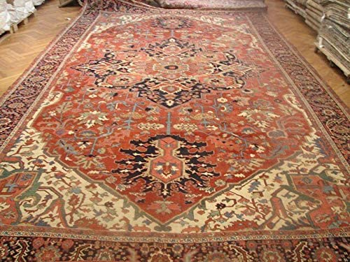12×21 Antique Persian Heriz Serapi Rug