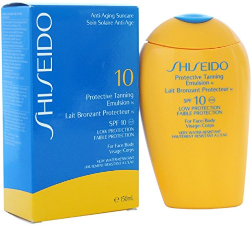 Unisex Shiseido Protective Tanning Emulsion N SPF 10 (For Face and Body) Self-Tanning 150 ml 1 pcs sku# 1758428MA ()