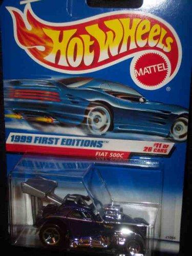Hot Wheels Kids Bedding - 1999 First Editions -#11 Fiat 500c #919 Mint