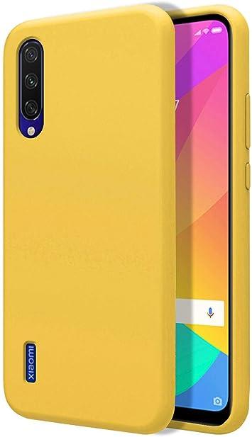 Funda Silicona Líquida Ultra Suave para Xiaomi Mi 9 Lite Color Amarilla: Amazon.es: Electrónica