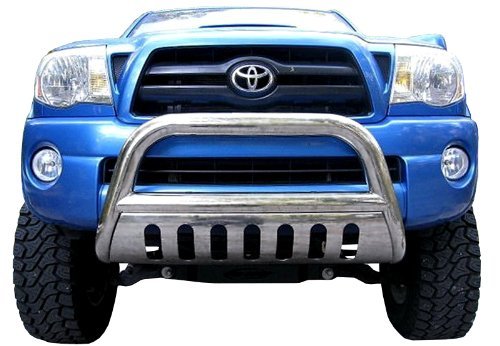 TYGER Stainless Steel Bull Bar Bumper Brush Guard with Skid Plate with Skid Plate Fits 01-07 Toyota Highlander