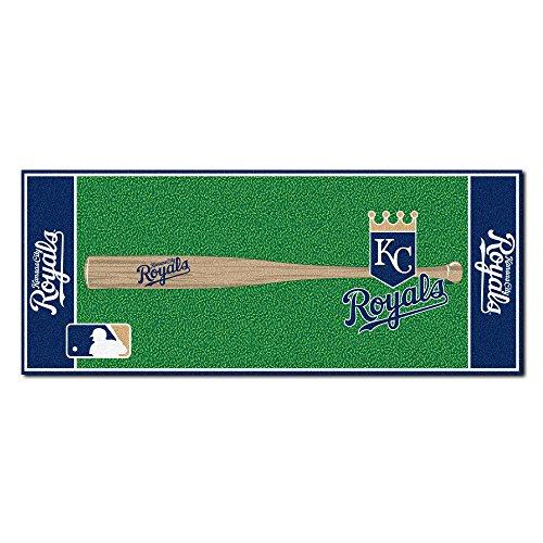 MLB Kansas City Royals Non-Skid Baseball Mat Area Rug - Runner Rug Baseball