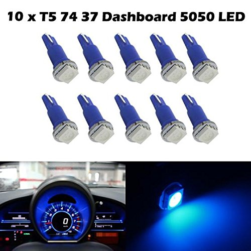 Partsam 10xT5 Wedge 1-5050-SMD Ice Blue 37 70 73 74 Speedometer Odometer Tachometer Instrument Panel Gauge LED Light (1993 Jeep Grand Cherokee Speedometer Not Working)