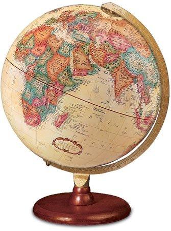 Piedmont 12'' Antique Ocean Color World Globe