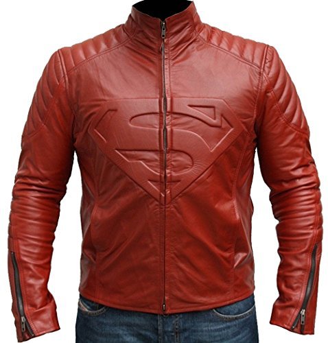 Superman Smallville Red Man of Steel Biker Jacket