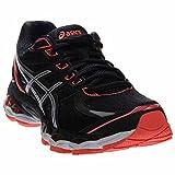 ASICS Women's Gel-Evate 3 Running Shoe, Black/Silver/Flash Coral, 8 M US