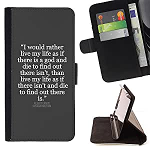 Jordan Colourful Shop - Grey White Inspiring Quote Jesus God For Sony Xperia m55w Z3 Compact Mini - Leather Case Absorci???¡¯???€????€??????