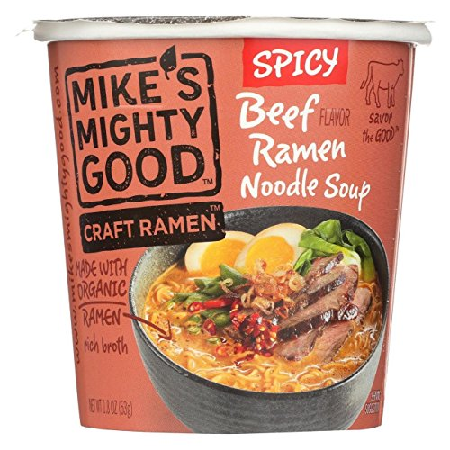 Mikes Mighty Good Soup Cup Spicy Beef Ramen, 1.8 (Mikes Beef)
