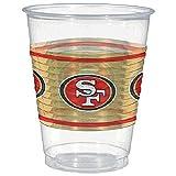 Amscan San Francisco 49ers Plastic Cup, 16 oz.