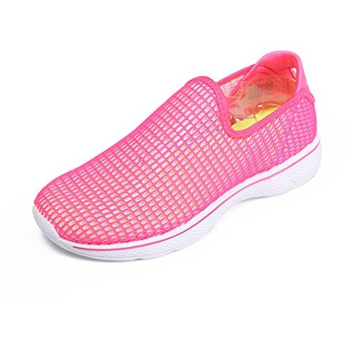 emansmoer MSTET81764XZW - Zapatilla Baja de Sintético Mujer Rosa Roja