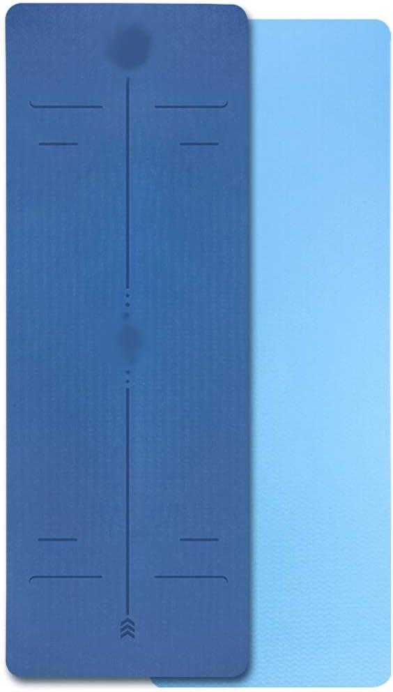 ヨガマット ヨガマット/滑り止めの安定したフィットネスマット、ヨガマット、環境にやさしい、無味エクササイズマット、初心者の厚い高弾性引き裂き耐性エクササイズマット (Color : A)