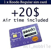 Koodo Mobile Prepaid Regular sim card with 20$ air time (voucher) included