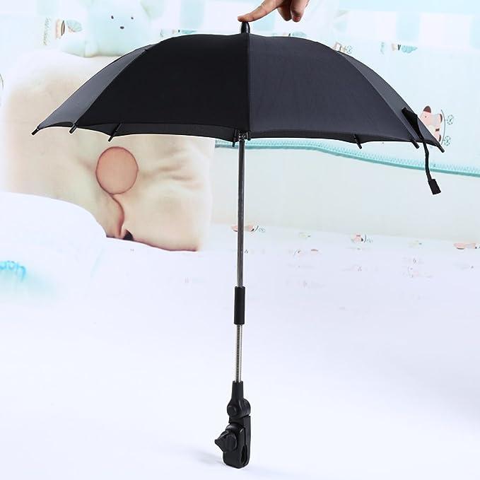 Paraguas Sombrilla para Silla de Paseo, Bicicleta y Cochecito Parasol para Sombrilla para Carritos de Bebé, Protección de Lluvia y Rayos UV, ...