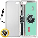 Custom iPhone 6/6S Case (Kodak Instamatic Mint) Edge-to-Edge Rubber White Cover with Shock and Scratch Protection | Lightweight, Ultra-Slim | Includes Stylus Pen by INNOSUB
