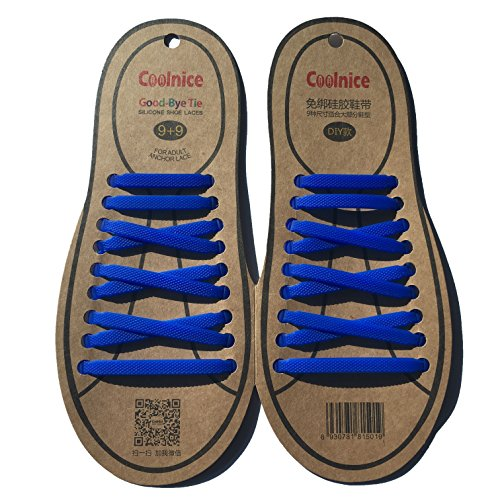 coolnice 2016 no tie shoelace flat rubber bands silicone