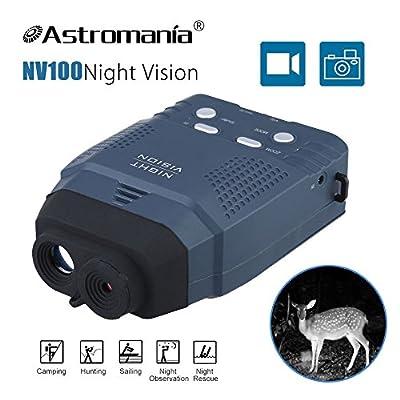 Astromania Portable Digital Night Vision Monocular New Optics Records Video Image with Micro Sd Card (NV100) / Astromania Night Vision Binocular Digital Infrared Night Vision Scope(NV400-B) by Astromania