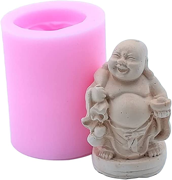 BOJI Roman Column Candle Mold 3D Silicone Soy Wax Soap Candle for Home Decoration Color : A