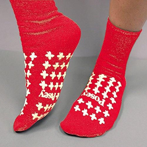 (Posey Company 826239R Fall Management Socks, Standard, Red(1 Pair))