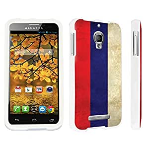 DuroCase ? Alcatel One Touch Fierce 7024W Hard Case White - (Russia Flag)