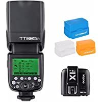 Godox TT685F 2.4G TTL Flash Speedlite for Fujifilm GN60 1/8000S HSS 0.1-2.s Recycle Time 230 Full Power Flashes 22 Steps of Power Output w/ X1T-F Trigger