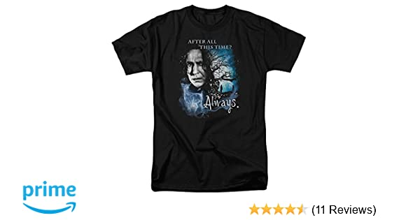 Amazon.com: Trevco Severus Snape After All This Time? Always. Harry Potter Mens Adult T-Shirt Black: Clothing