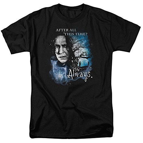 Severus Snape After All This Time? Always. Harry Potter Men's Adult T-shirt Black (X-Large) (Harry Potter After All This Time Always)