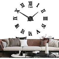 Silenciar DIY Frameless Gran Reloj de Pared Números