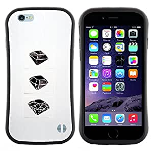 "Hypernova Slim Fit Dual Barniz Protector Caso Case Funda Para Apple (4.7 inches!!!) iPhone 6 / 6S (4.7 INCH) [Rubí Esmeralda Arte Dibujo""]"
