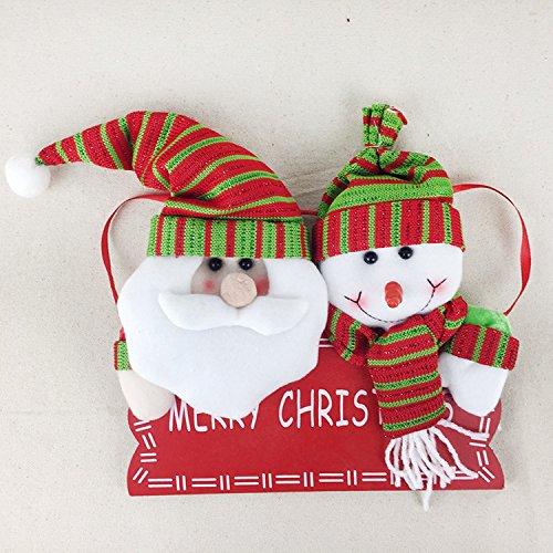 Merry Christmas Wreath Decor,Santa Claus Christmas hanging door knocker. ( Snowman Santa Claus)