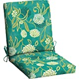 Mainstays Outdoor Patio Dining Chair Cushion (Snowball Floral)