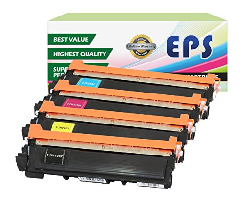 EPS Replacement Toner Cartridges compatible with Brother TN210 Color Set (B, C, M, Y) (Eps Replacement Brother Tn Toner compare prices)