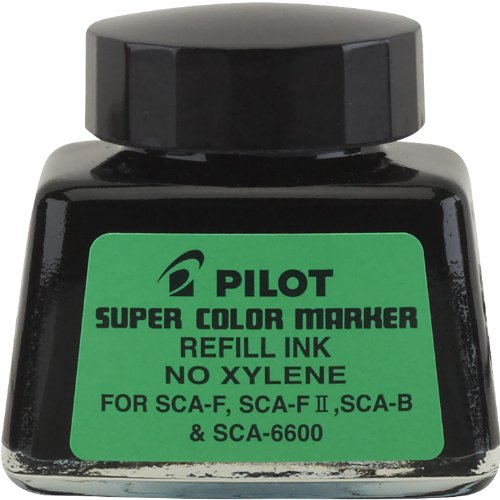 Pilot Super Color Permanent Marker Refill Ink, Xylene-Free, 1 Ounce Bottle with Dropper, Black Ink (48500)