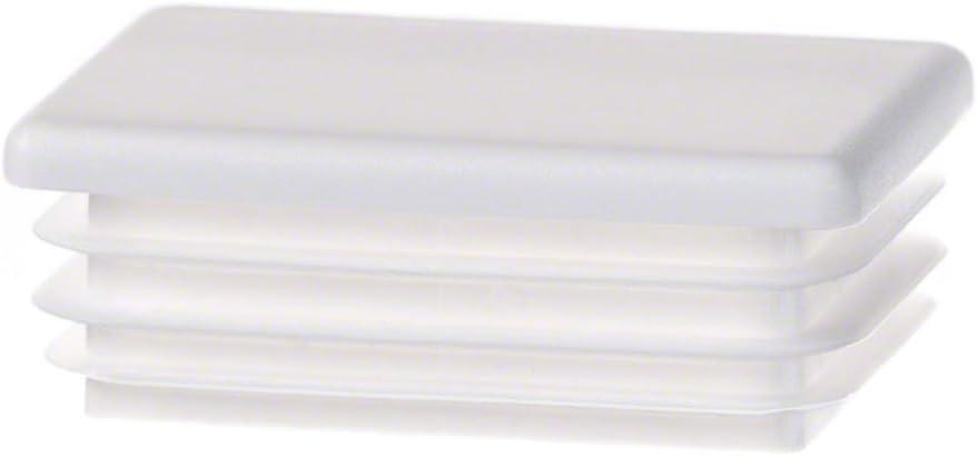 bouchon pour tube rectangulaire 80x50 blanc plastique Capuchon Bouchons 10 Stck