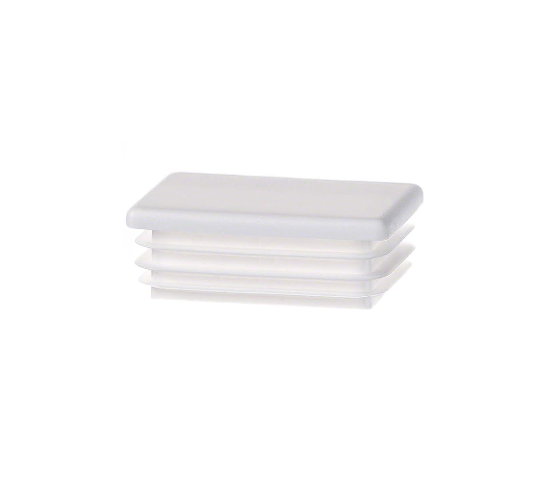 bouchon pour tube rectangulaire 25x15 blanc plastique Embout bouchons dobturation 5 pcs